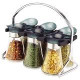 OXONE 6 Pcs Jar Spice Rack Set OX-324